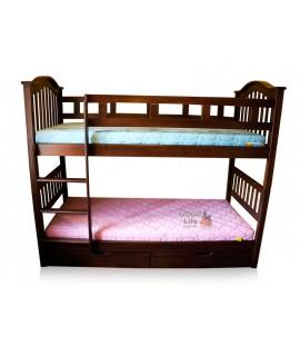 """Двухъярусная детская кровать """"Максим"""" 200х90см, лестница слева"""