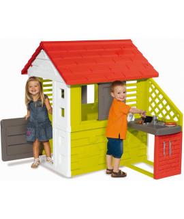 Игровой домик Smoby с кухней, красный 810713