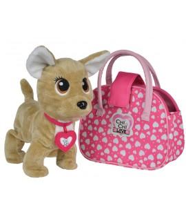 Плюшевая интерактивная собачка Chi-Chi Love Счастливчик с сумочкой 5893110