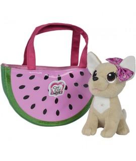 Плюшевая собачка Chi-Chi Love Фруктовая мода с сумочкой 5893116