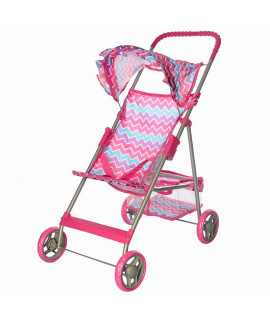 Коляска для кукол Melogo 9304 розовая змейка