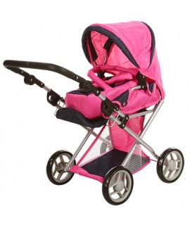 Коляска для кукол Melogo 9346 розовый с малиновым
