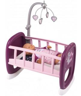 Кроватка для куклы Колыбель с мобилем Baby Nurse Smoby 220343