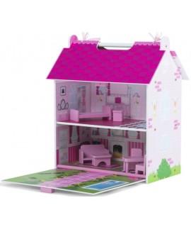 Переносной дом для кукол Pink Palace