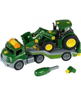 Маленький фургон с трактором John Deere Klein 3908