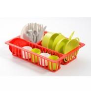 Игровой набор посуды с сушилкой 19 аксессуаров ecoiffer 0606