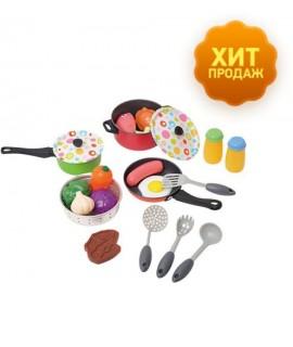 <img>Набор посуды с продуктами Playgo 6988