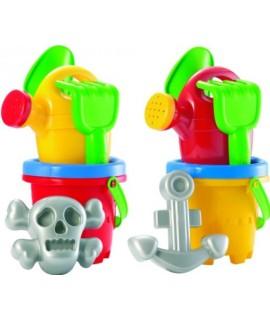 Набор для игры с песком Моряк 5 аксессуаров, 2 цвета - Ecoiffier 0616