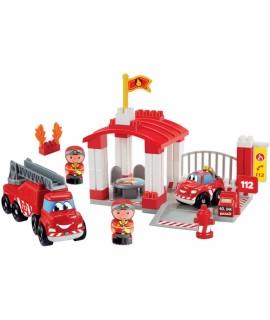 Конструктор ecoiffier Пожарная станция с фигурками