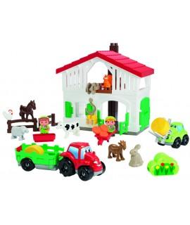 Конструктор ecoiffier Фермерский дом с трактором и погрузчиком 3021