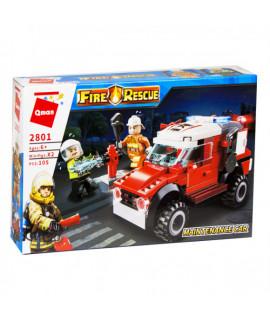 Конструктор Пожарная машина Qman 2801
