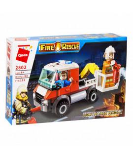 Конструктор Пожарная машина Qman 2802