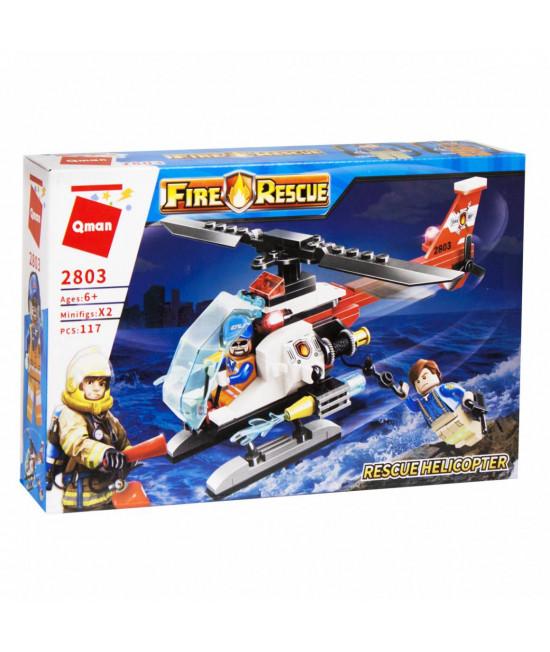 Конструктор Спасательный вертолет Qman 2803