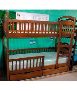 Двухъярусная детская кровать Арина с ограждением