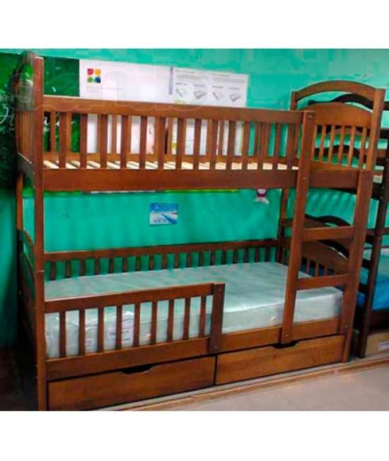 Детская двухъярусная кровать Арина с бортиками внизу