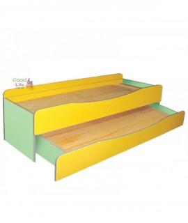 Детская двухъярусная кровать Близнецы 140х60 см, с выдвижным спальным местом