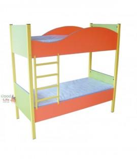 Детская двухъярусная кровать Волна 140х60