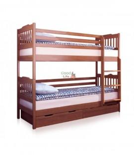 Детская двухъярусная кровать Ева под матрас 80х190 см