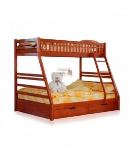 Детская двухъярусная кровать Юлия низ 200х140, верх 90х200 см