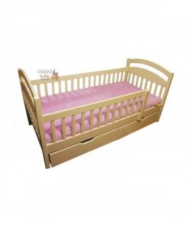 Детская кроватка Арина 160х80 с ограждением и ящиками