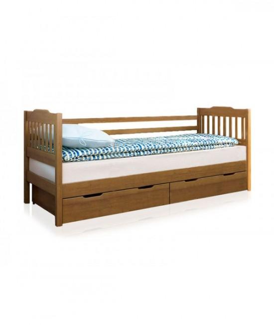Детская подростковая кровать Ева 190х80 с ограждением и ящиками