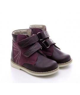 Ортопедические ботинки детские Берегиня 1113 бордовые