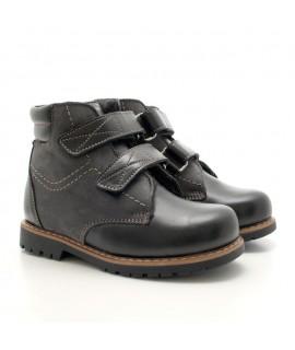 Ортопедические ботинки детские Берегиня 1323 черный баклажан