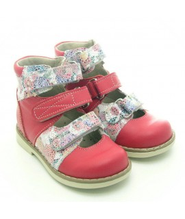 Ортопедические туфли детские Берегиня 1405 малина-клумба