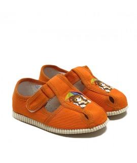 Тапочки для дома и садика Берегиня 0118 оранжевые