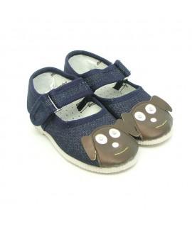 Тапочки для дома и садика Берегиня 0132 джинс