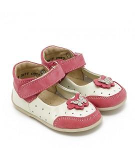 Туфли детские Берегиня 2611 белый с малиновым