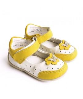 Туфли детские Берегиня 2611 белый с желтым