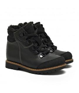 Ботинки детские зимние Берегиня 1318 кожа черные