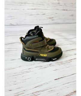 Ботинки хайтопы детские демисезонные Jong Golf B30223-5 хаки