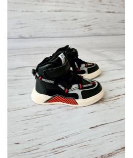 Ботинки хайтопы детские демисезонные Jong Golf B30434-0 черные