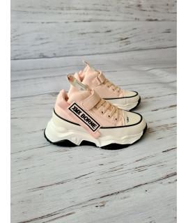 Ботинки Хайтопы детские демисезонные Kimboo LL965-3F розовые