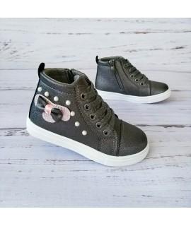 Ботинки детские демисезонные С. Луч Y358-2 графит