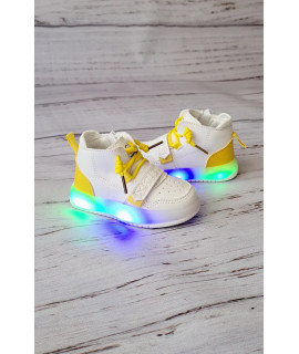 Ботинки хайтопы детские демисезонные W.Niko AG635-2 белые