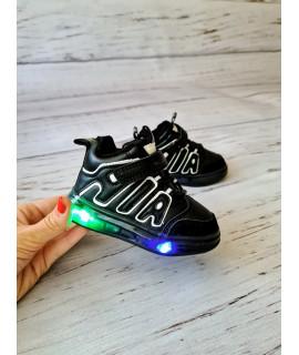 Ботинки хайтопы детские Wniko AG365-5 черные