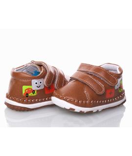Пинетки-мокасины детские F200 коричневые