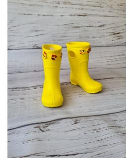Резиновые сапоги детские Jose Amorales 117163 желтые со смайликом