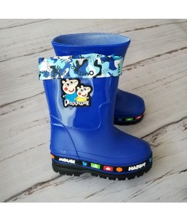 Резиновые сапоги детские Class Shoes 6607 синие