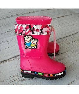 Резиновые сапоги детские Class Shoes 6607 розовые