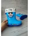Резиновые сапоги детские Disney C02 голубые