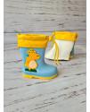 Резиновые сапоги детские Bbt HMY218 голубые