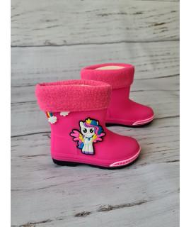 Резиновые сапоги детские BBT M5075-2 розовые