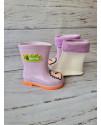 Резиновые сапоги детские BBT M5171-7 фиолетовые