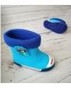 Резиновые сапоги детские Class Shoes SZ932 голубые
