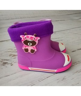 Резиновые сапоги детские Class Shoes SZ932 фиолетовые