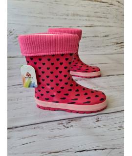 Резиновые сапоги детские Kimboo Y19-2 розовые